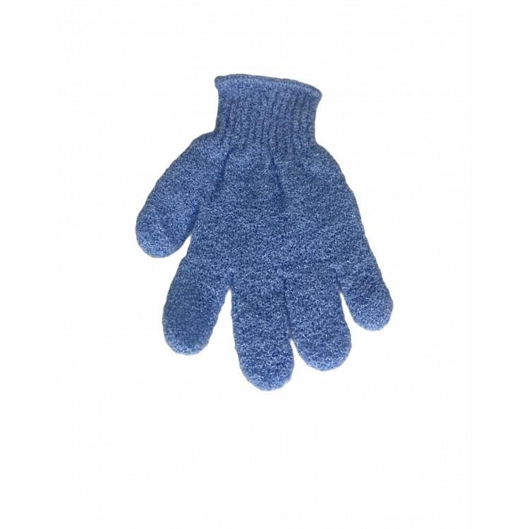 Gant exfoliant bleu ( visage et corps)